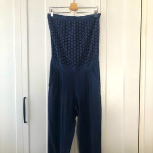 GIPSY strapless Jumpsuit in Silk - size S